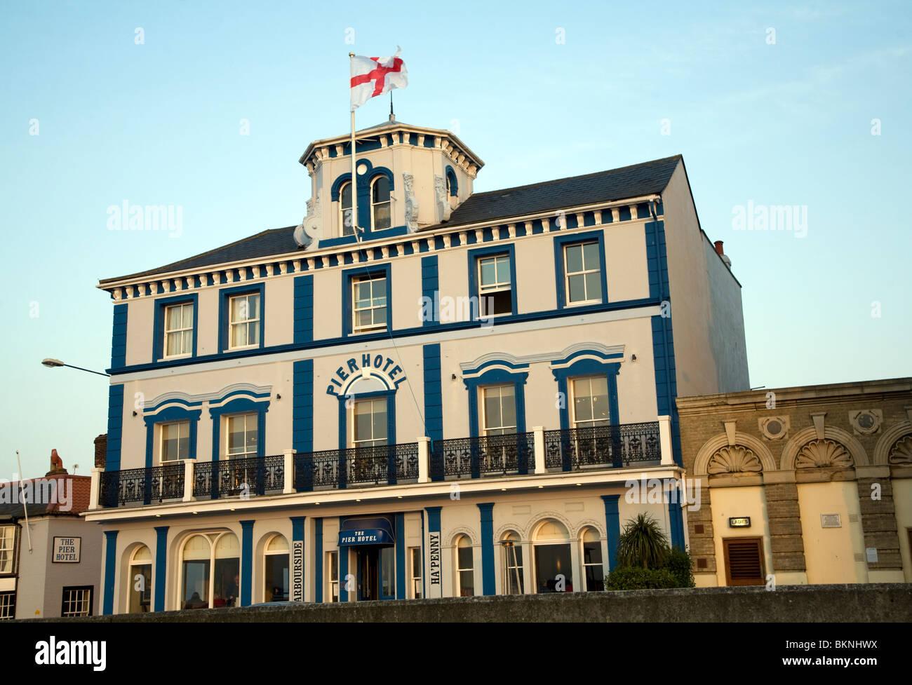 Pier hotel, Harwich, Essex - Stock Image