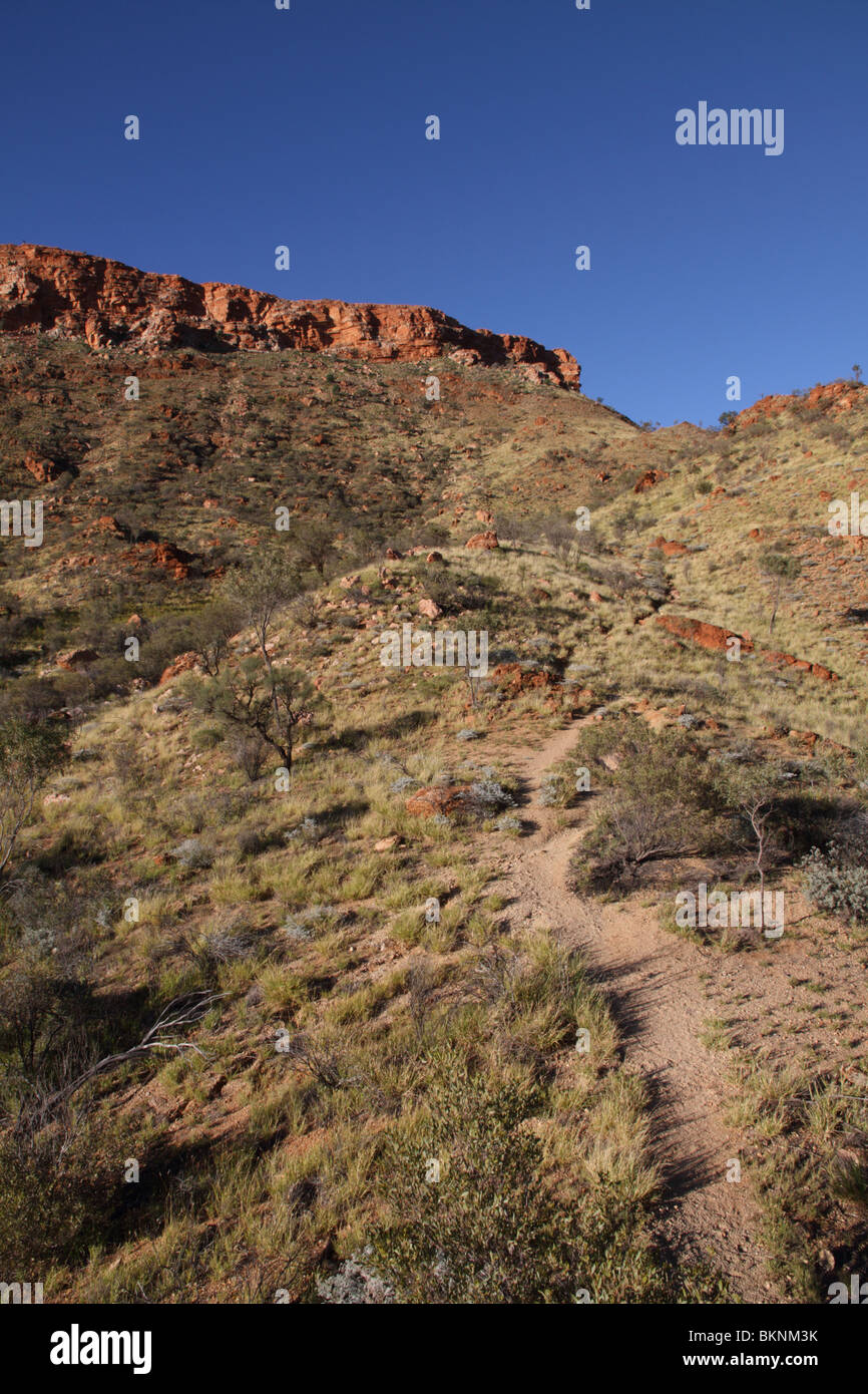 Mount Gillen in the West MacDonnell Range near Alice Springs, Central Australia - Stock Image