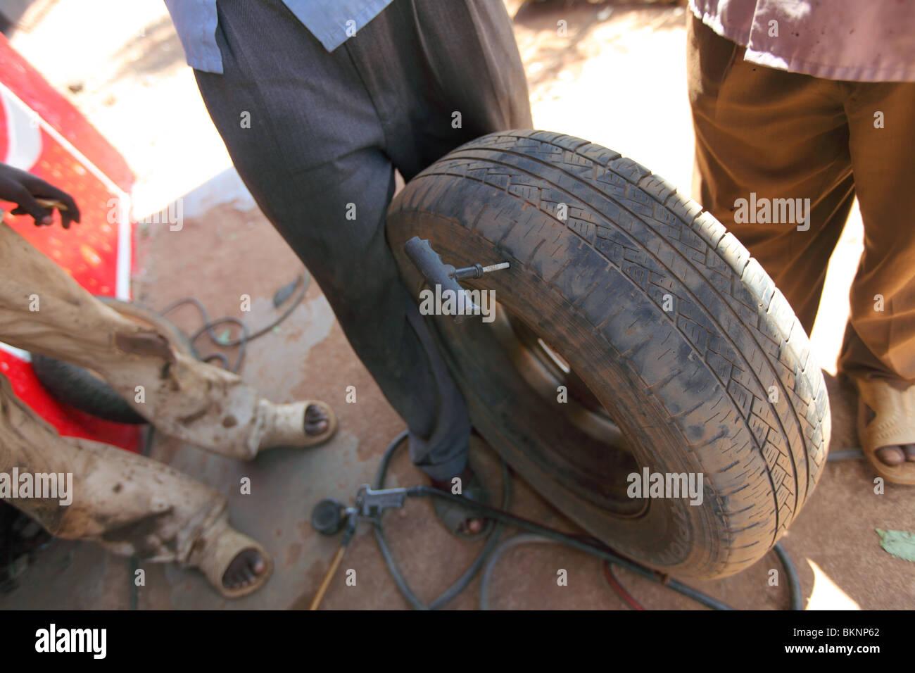 Kenya Africa Car Toyota Rav Breakdown Rental Car Flat Tire