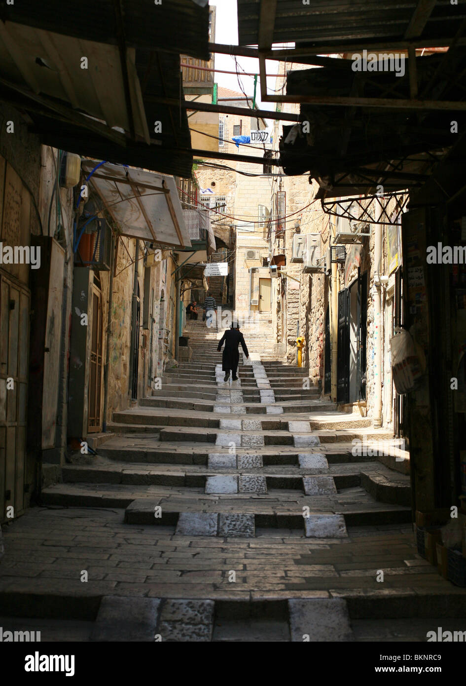 Orthodox Jew in the Old City of Jerusalem, Israel - Stock Image