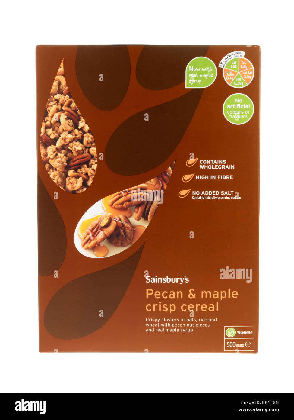 Pecan and Maple Cereal - Stock Image