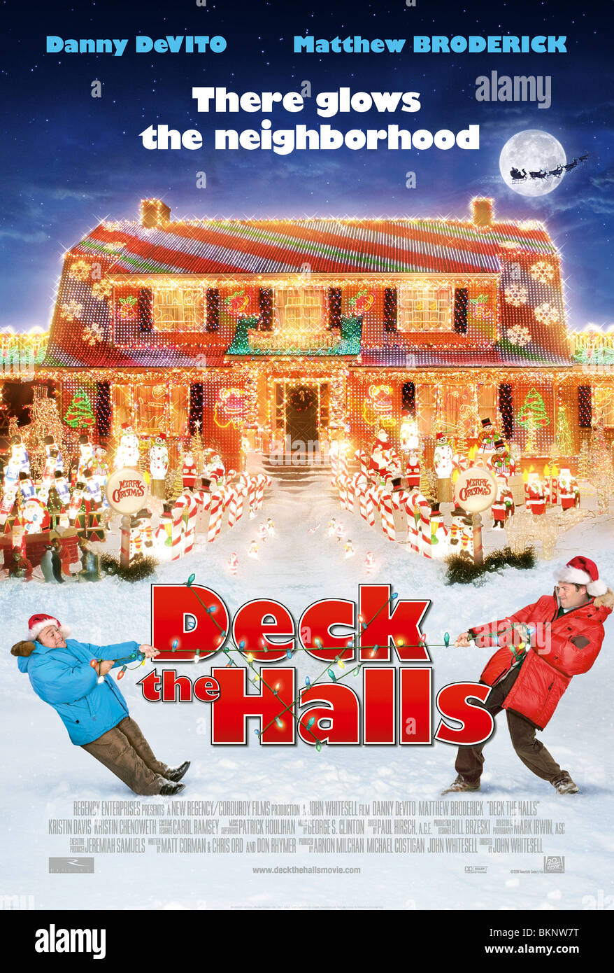 DECK THE HALLS -2006 POSTER - Stock Image