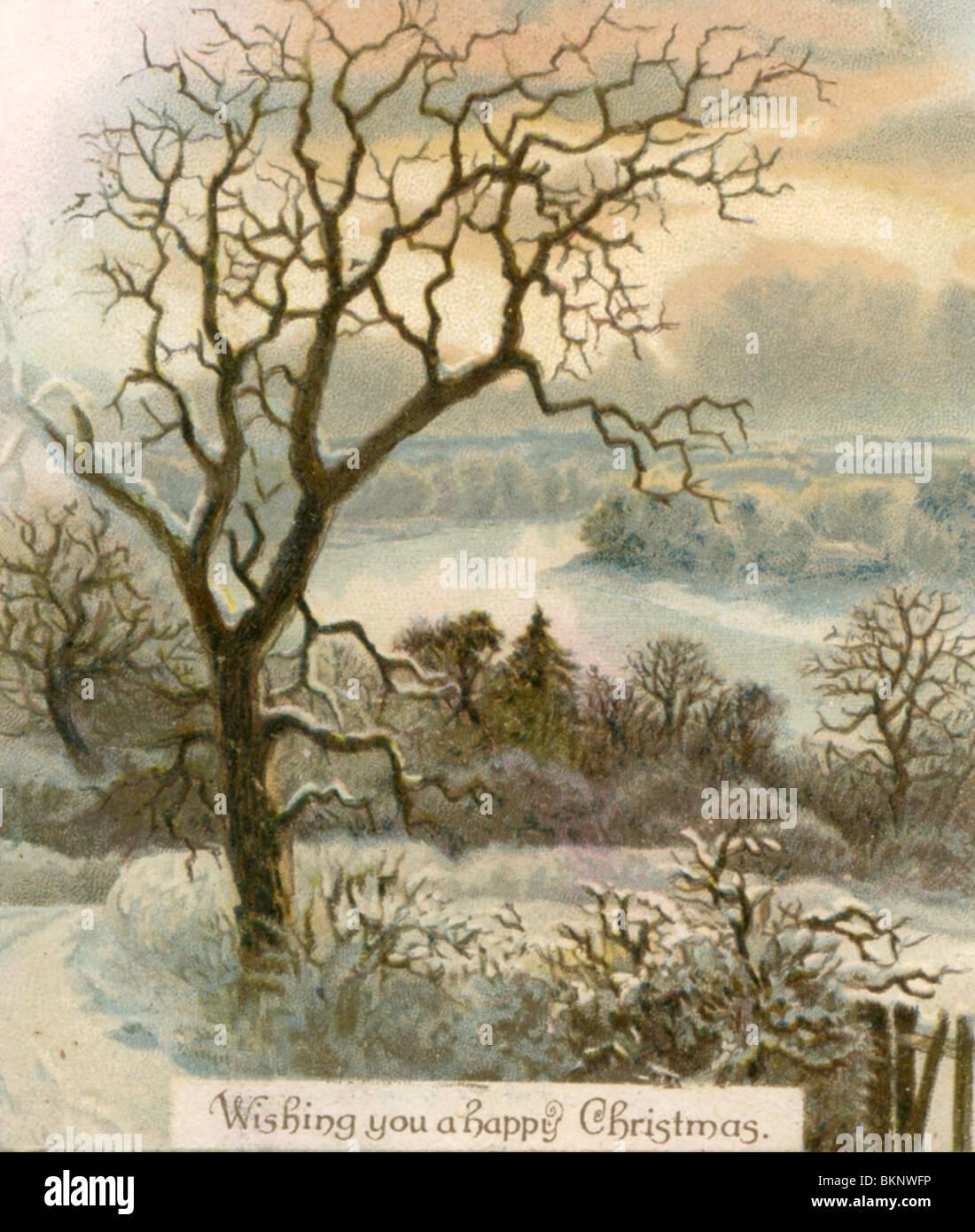 Christmas card scenes stock photos christmas card scenes stock wishing you a happy christmas christmas card showing a wintry scene stock image m4hsunfo