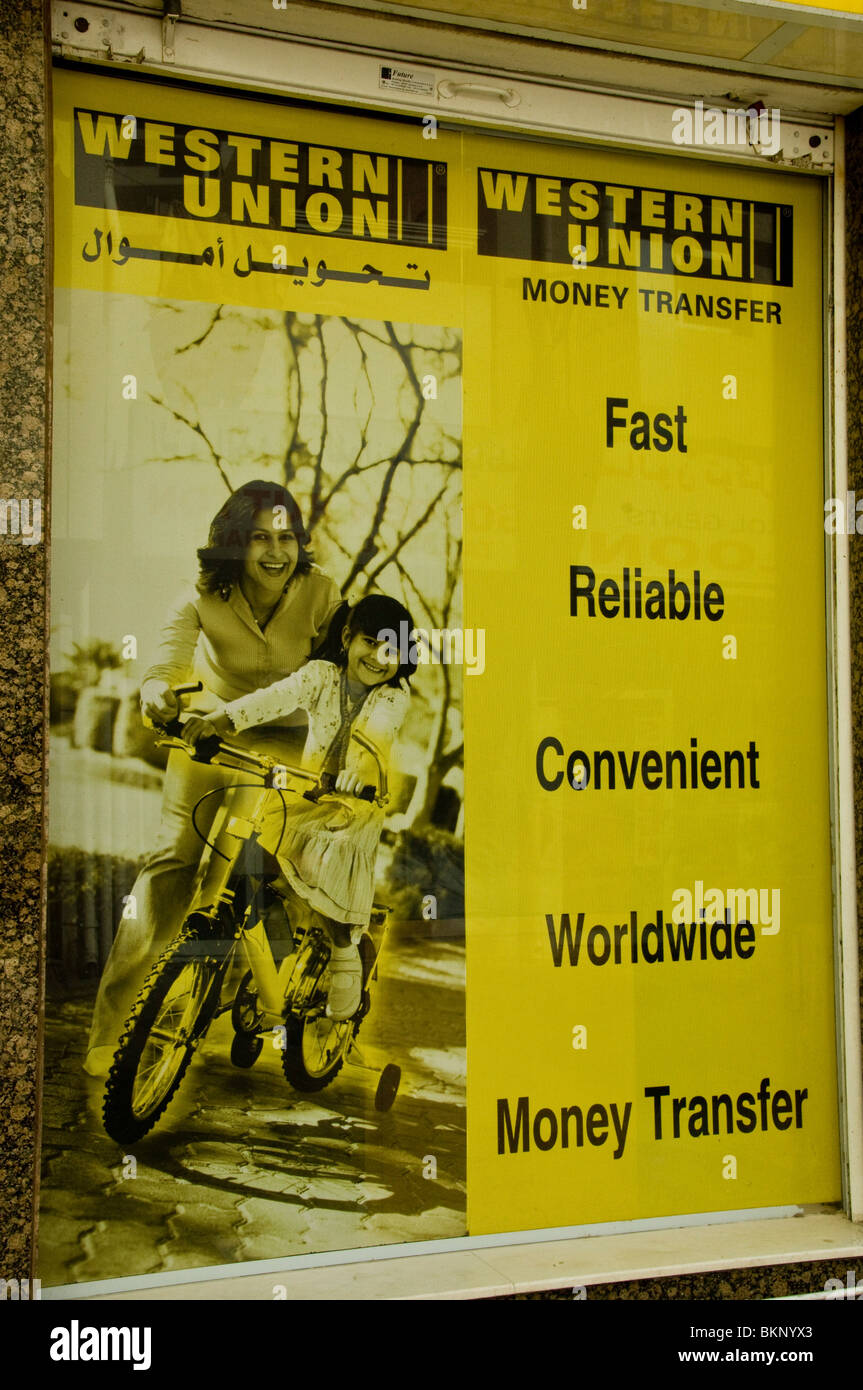 Wiring Money Stock Photos Images Alamy On Weekends Western Union Transfer Advertisement Dubai Image