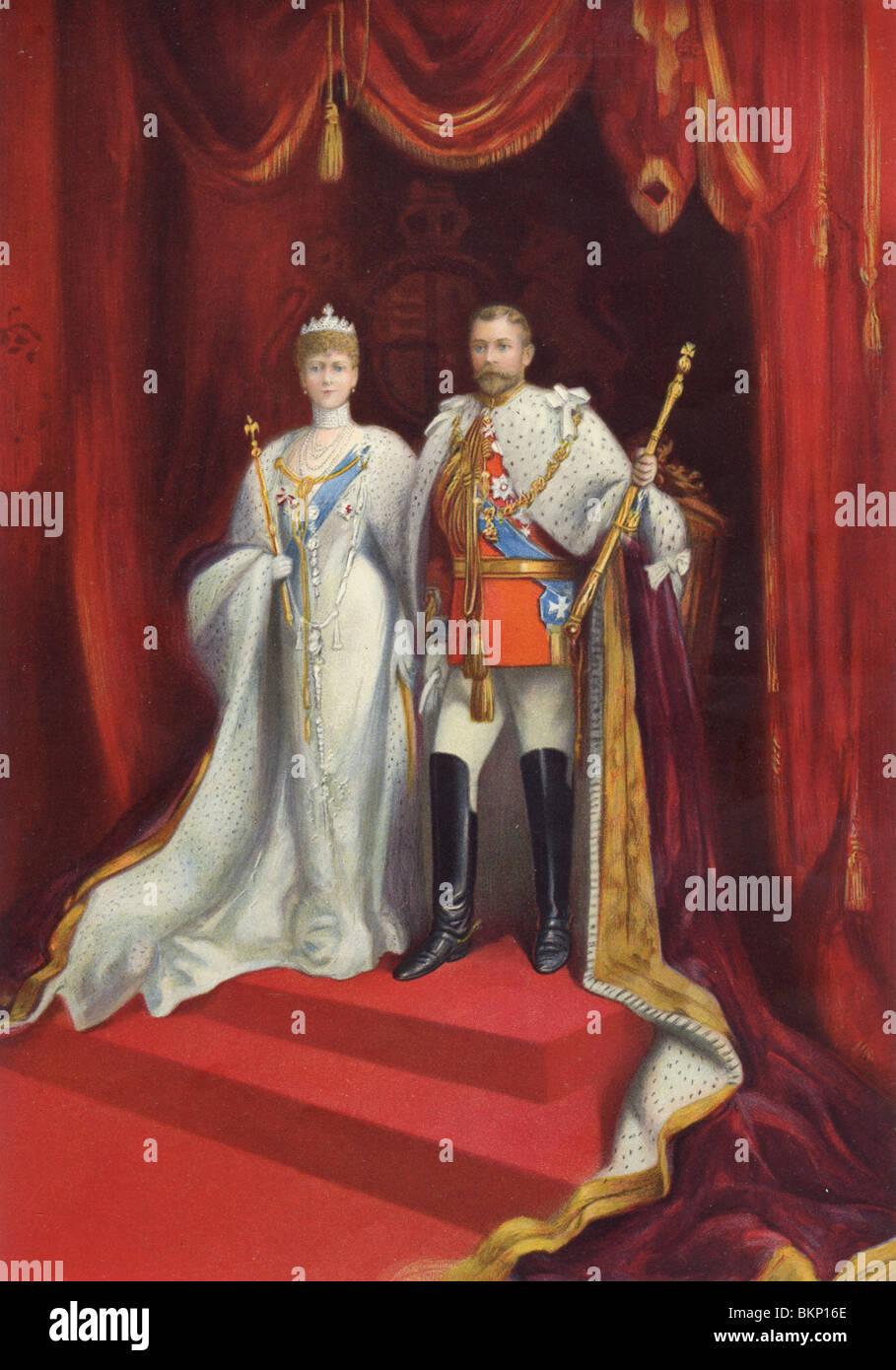 King & Queen - Stock Image