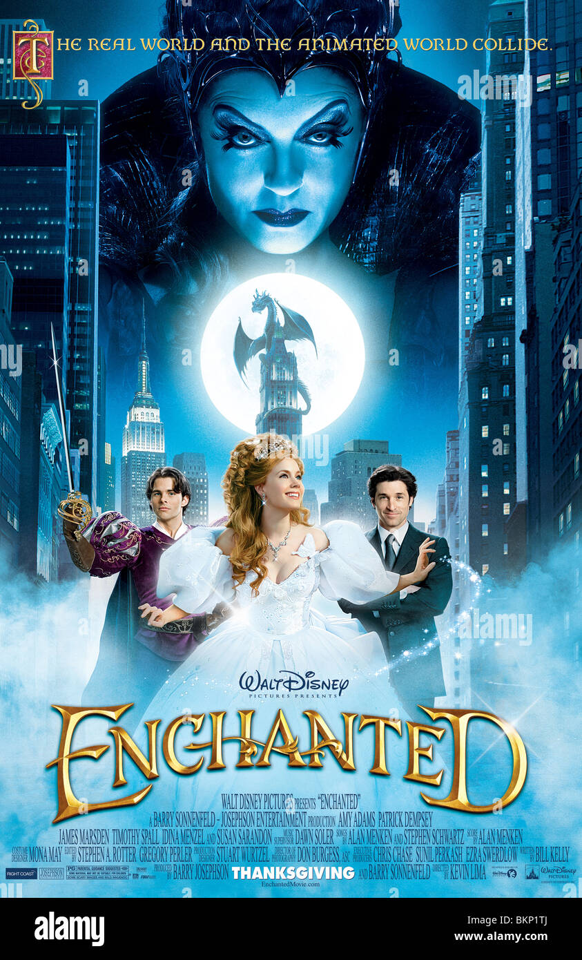 ENCHANTED (2007) POSTER KEVIN LIMA (DIR) ENED 001 - Stock Image
