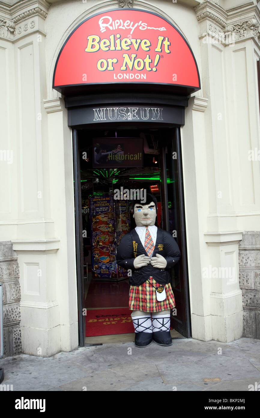 Ripley's 'Believe it or not' museum, London, England - Stock Image