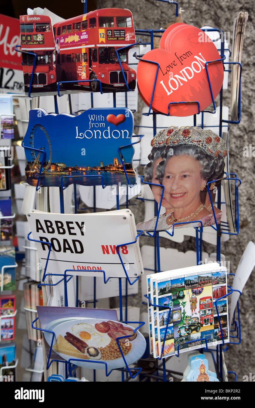 Postcards, London, England - Stock Image