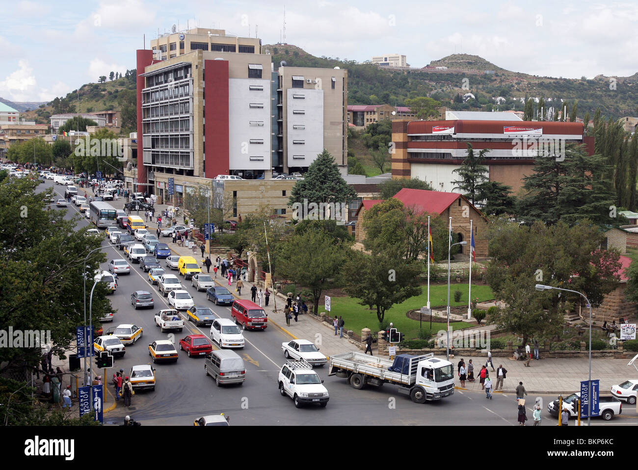 Central Maseru, Capital of Lesotho - Stock Image
