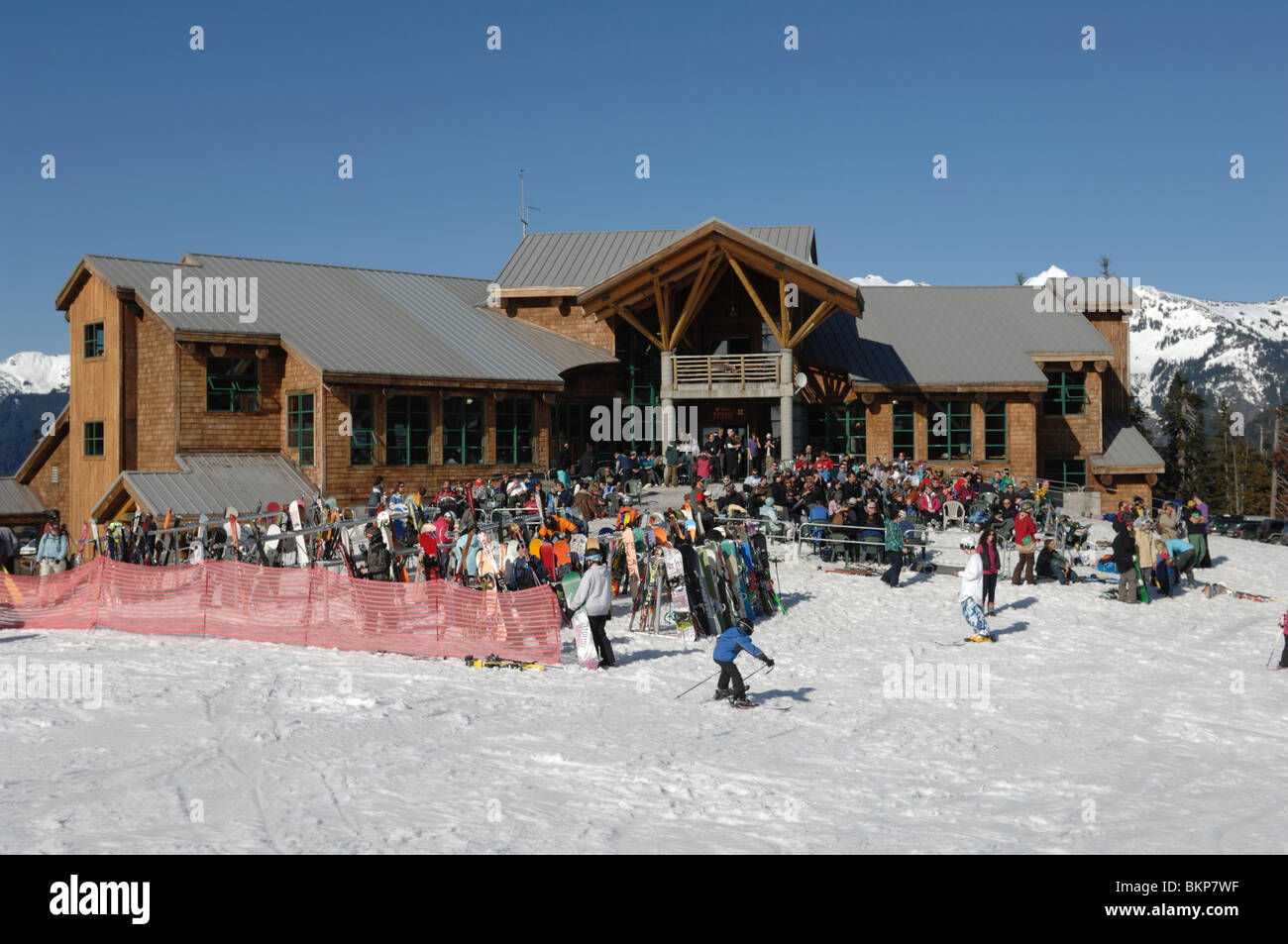 Mount Baker ski area in Washington State part of the Pacific North West of North America on a sunny day. - Stock Image