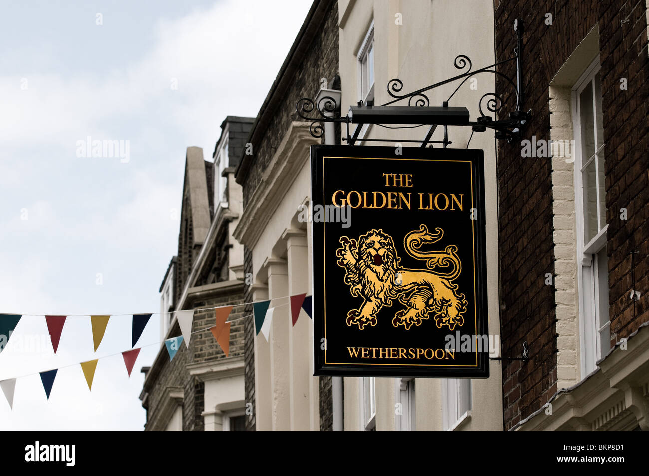A Wetherspoon pub sign.  Photo by Gordon Scammell - Stock Image