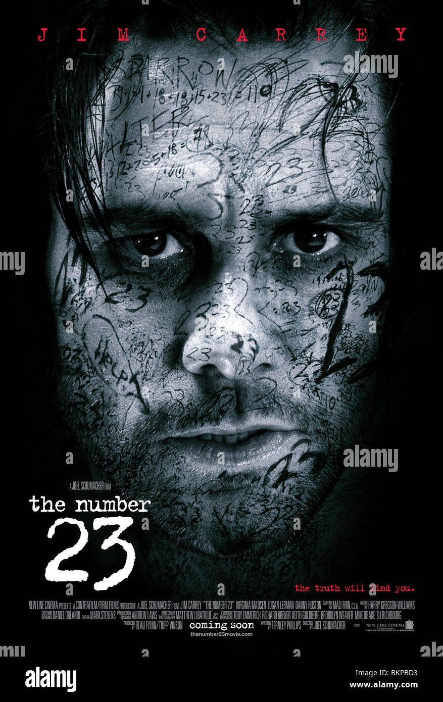 THE NUMBER 23 -2007 POSTER - Stock Image