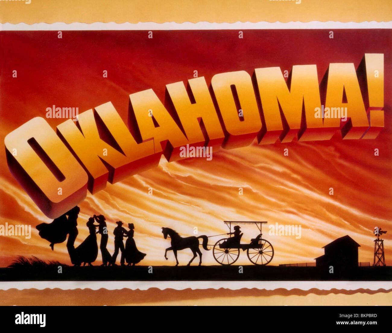 OKLAHOMA -1955 POSTER - Stock Image
