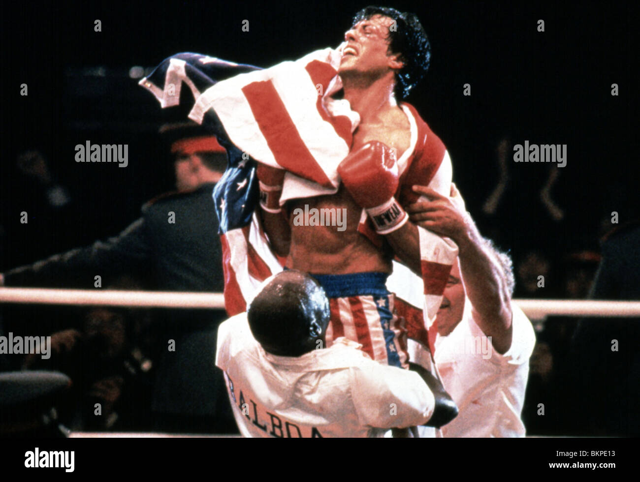 ROCKY IV (1985) SYLVESTER STALLONE RK4 014 L - Stock Image