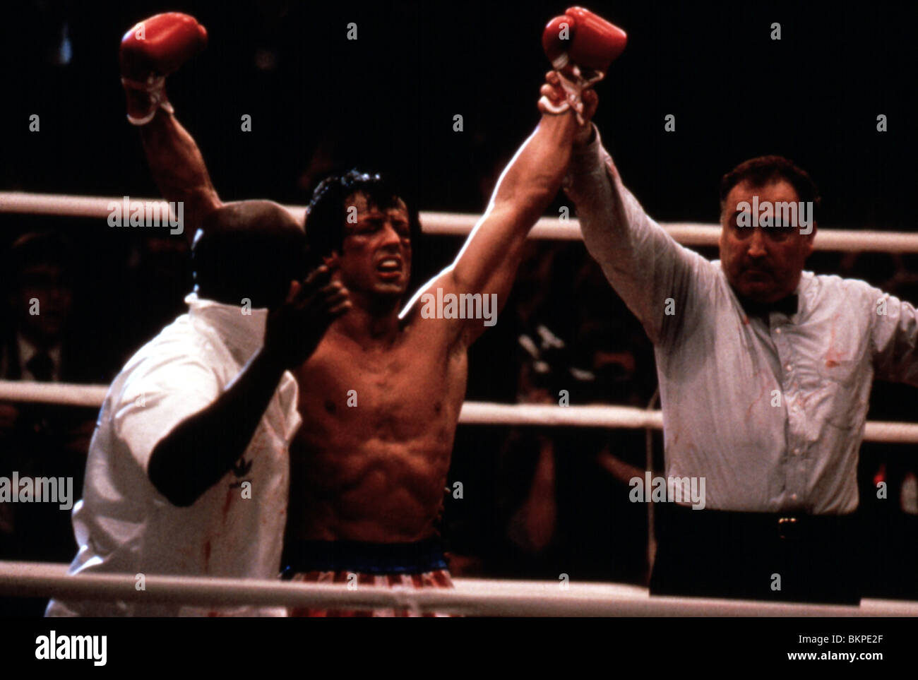 ROCKY IV (1985) SYLVESTER STALLONE RK4 077 - Stock Image