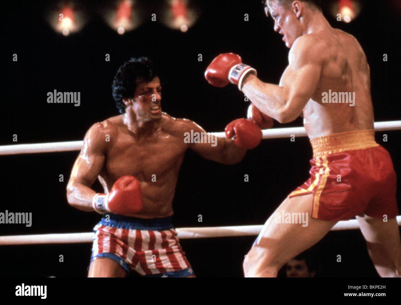 ROCKY IV (1985) SYLVESTER STALLONE, DOLPH LUNDGREN RK4 082 - Stock Image