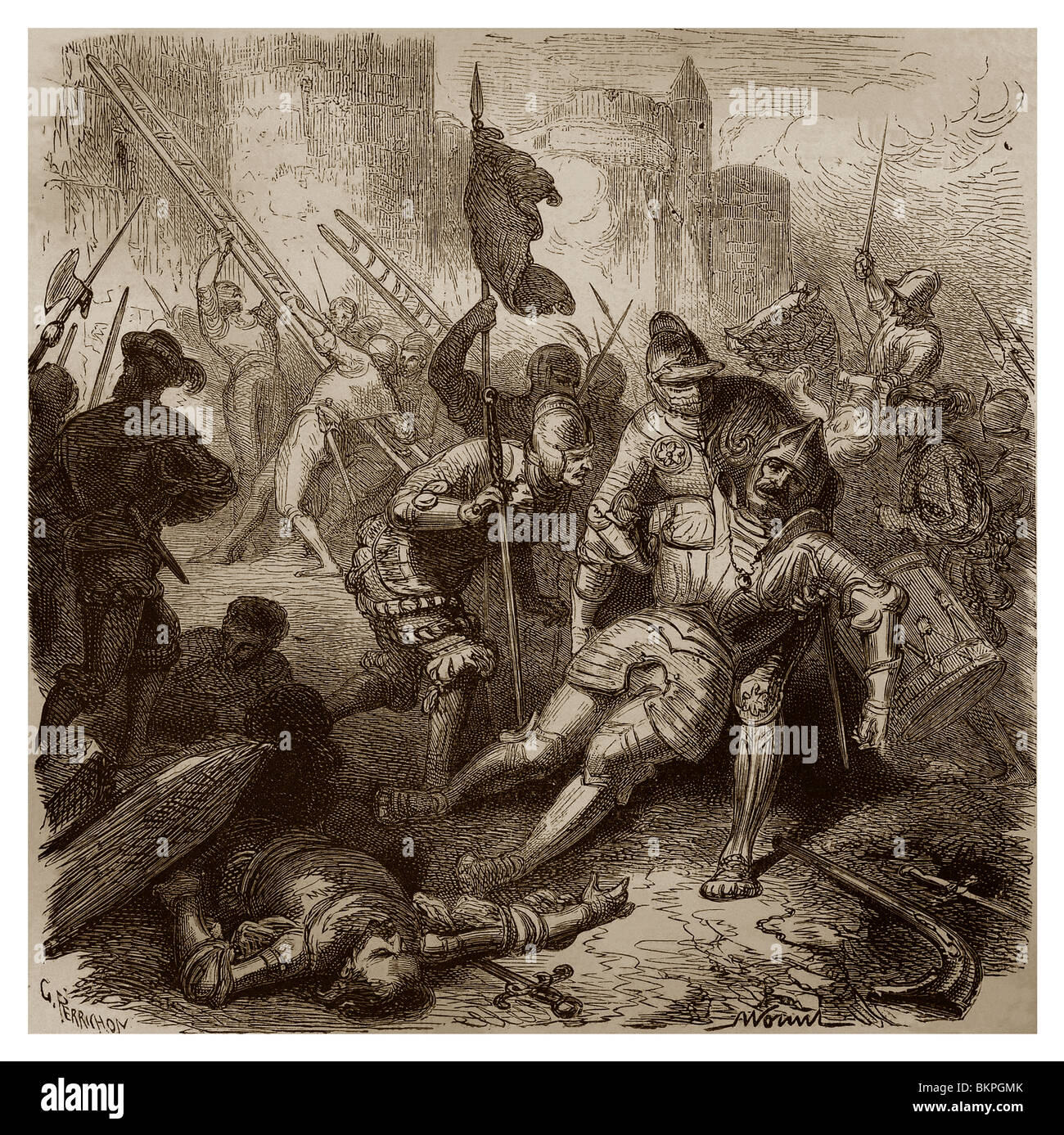 On 6th May 1527, during the assault of Rome, the Constable of Bourbon was