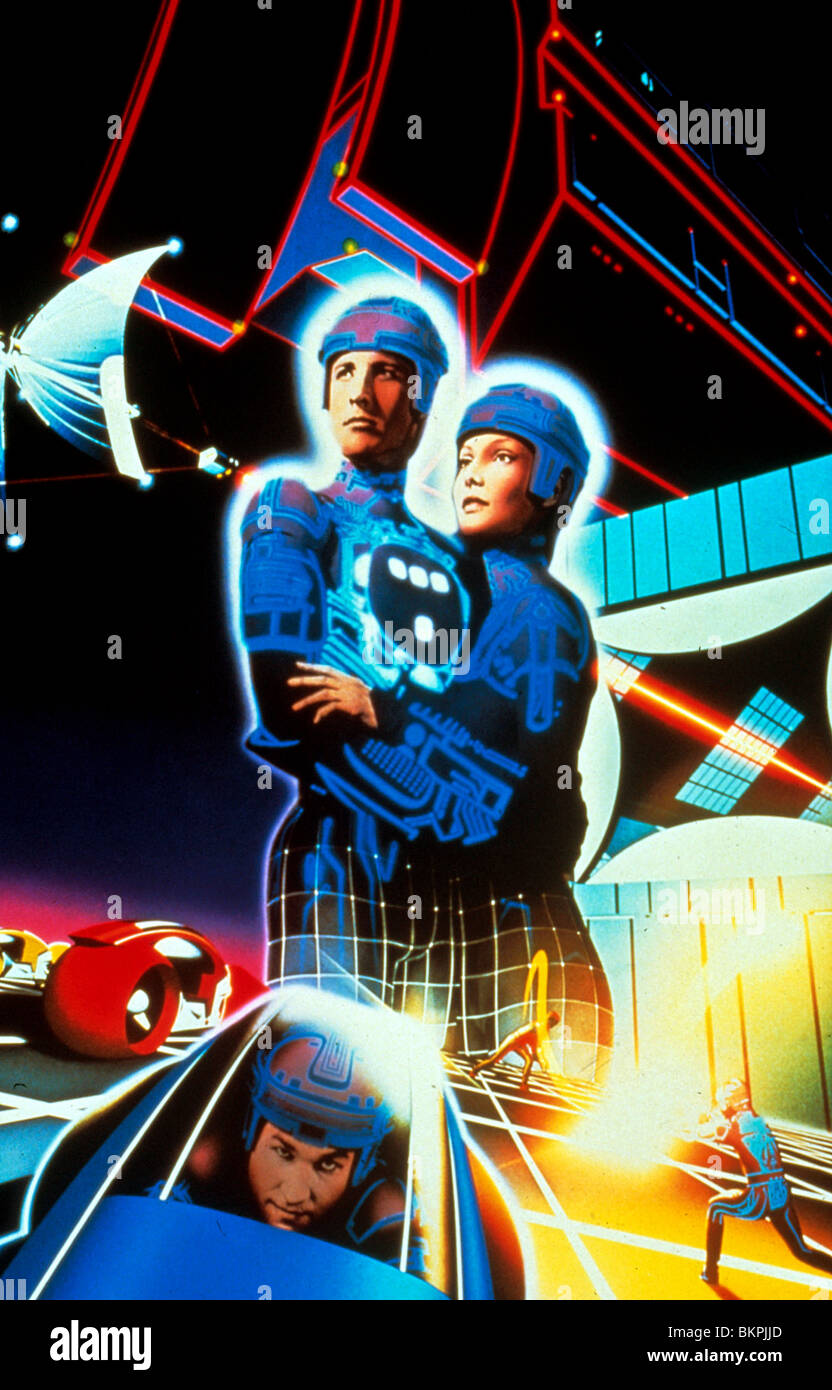 TRON (1982) JEFF BRIDGES, BRUCE BOXLEITNER, CINDY MORGAN TRN 005 - Stock Image