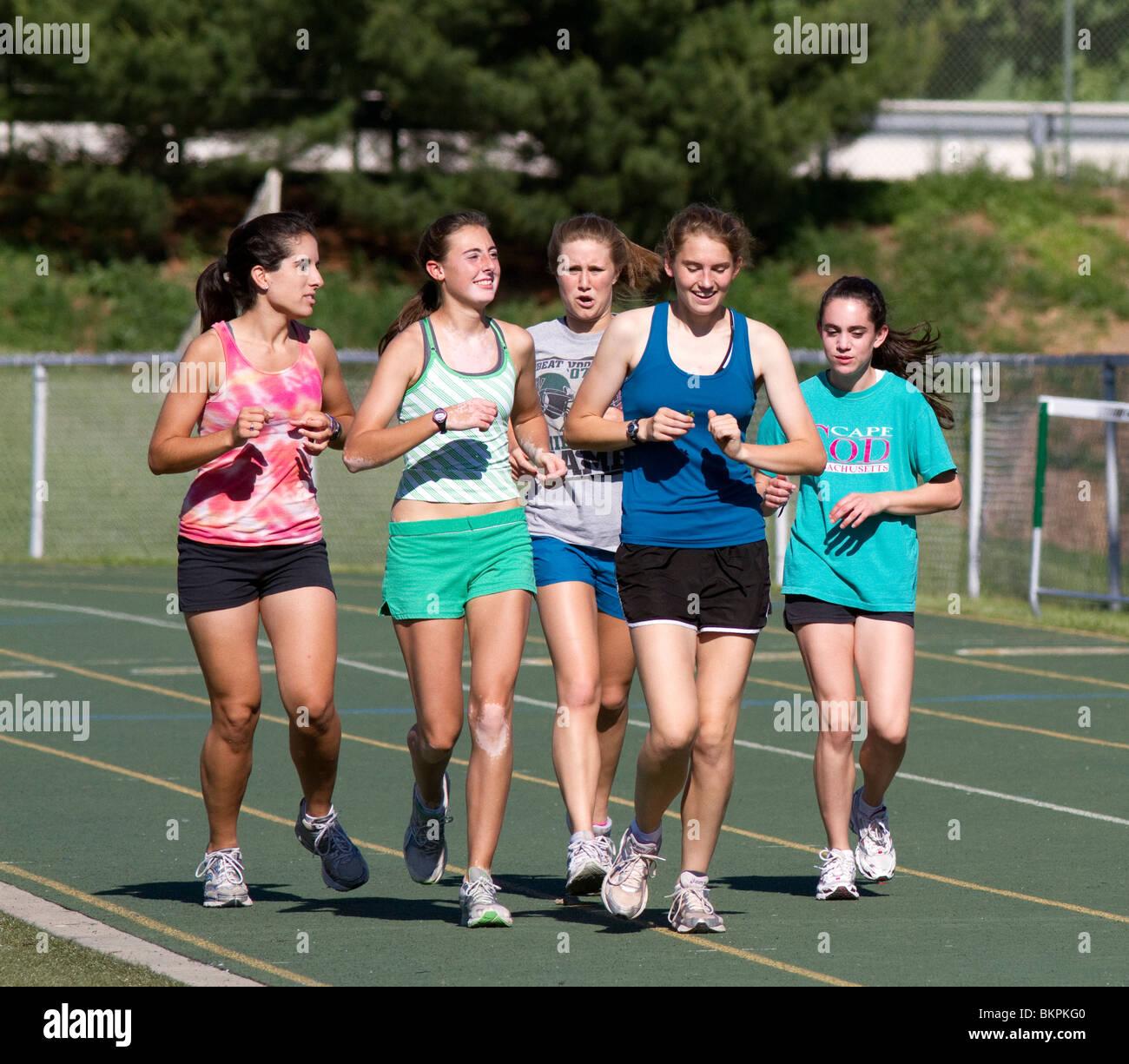 Teen track girls