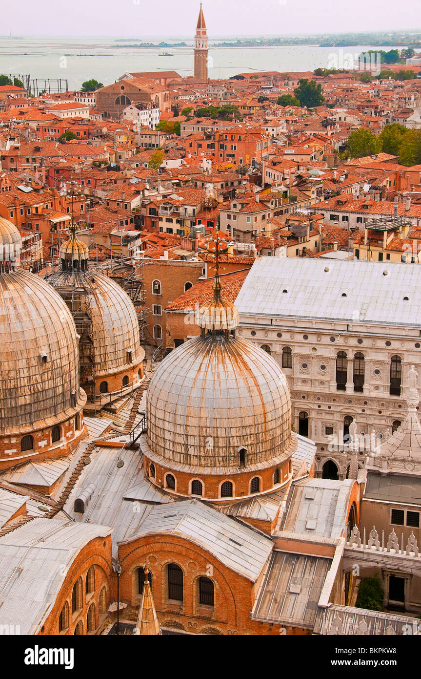 Roof tops of Venice - Stock Image