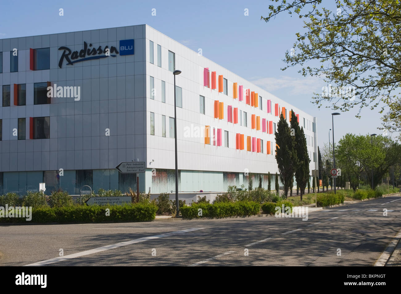The Comfortable Radisson Blu Hotel at Toulouse Blagnac Airport Haute-Garonne Midi-Pyrenees France - Stock Image
