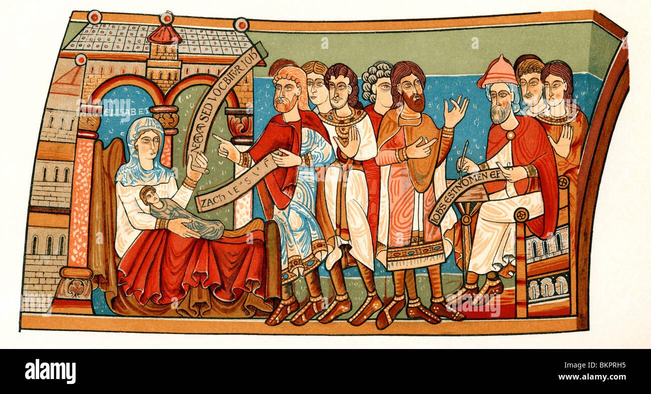 The naming of St. John the Baptist, - Stock Image