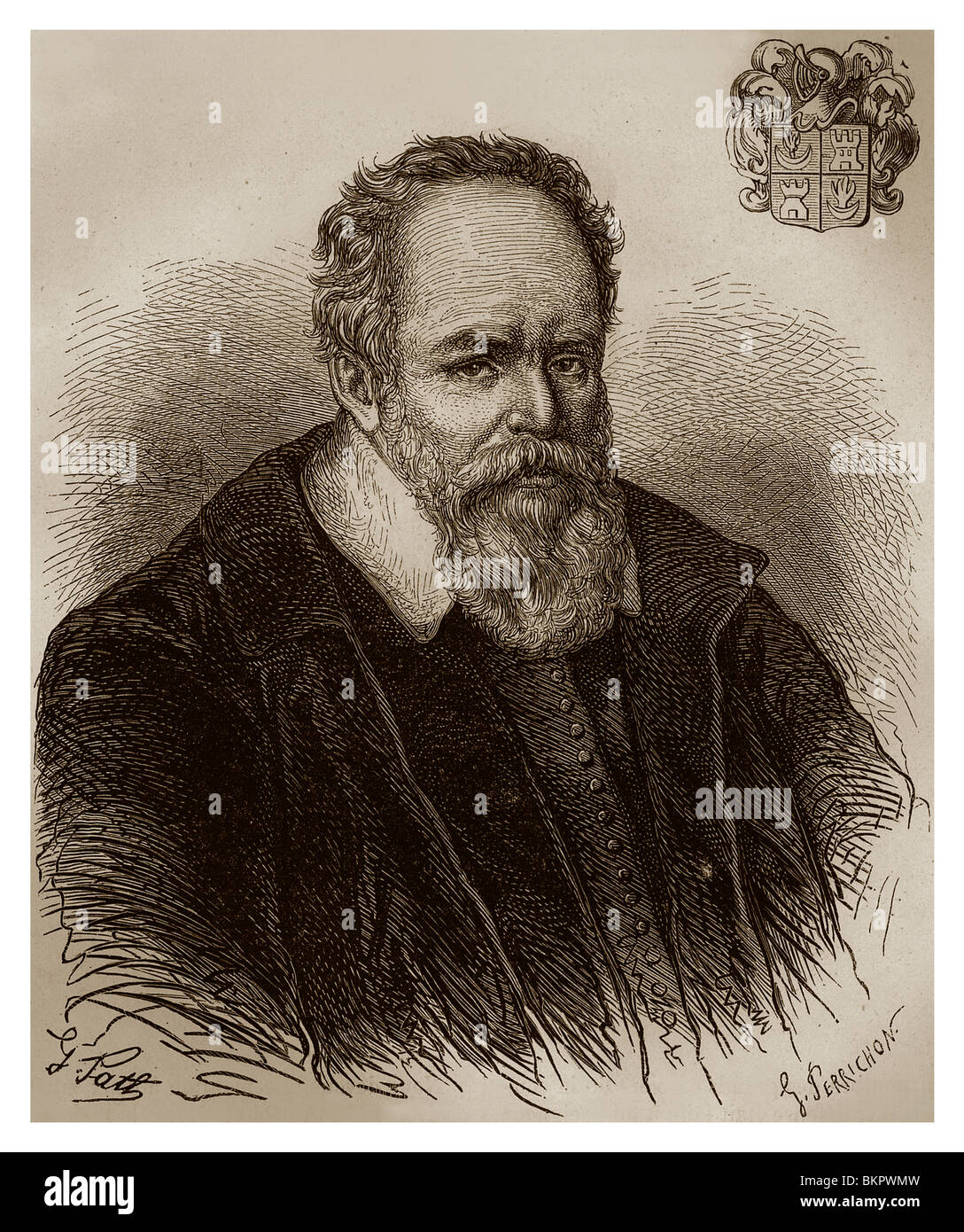 Pierre Jeannin, known as President Jeannin (1540-1623): French jurist, writer and adviser of King Henry IV of France. - Stock Image