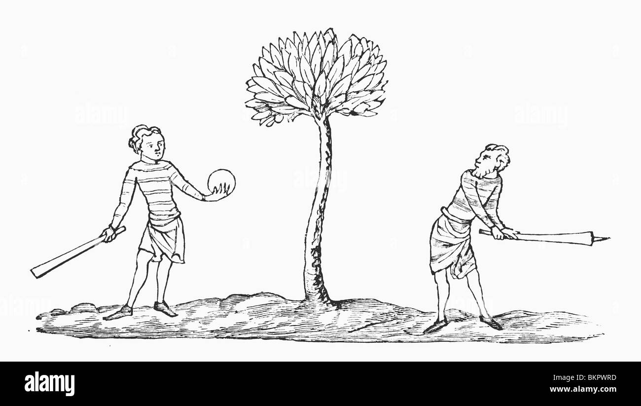 Club-ball in the early fourteenth century. - Stock Image