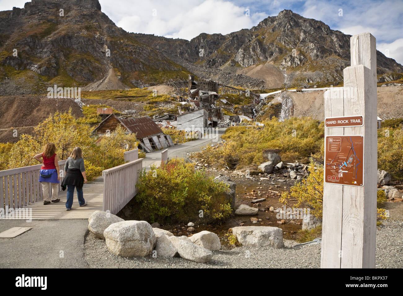 at Independence Mine. Hatcher Pass area, Matanuska Valley, Fall / Autumn Southcentra, Alaska MR - Stock Image