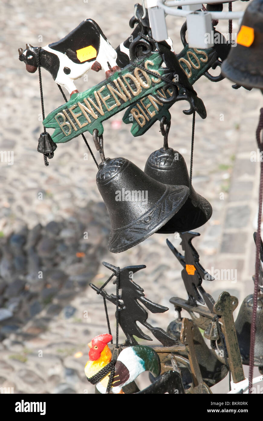Tourist Souvenirs in the town of Potes, Picos de Europa, Northern Spain - Stock Image