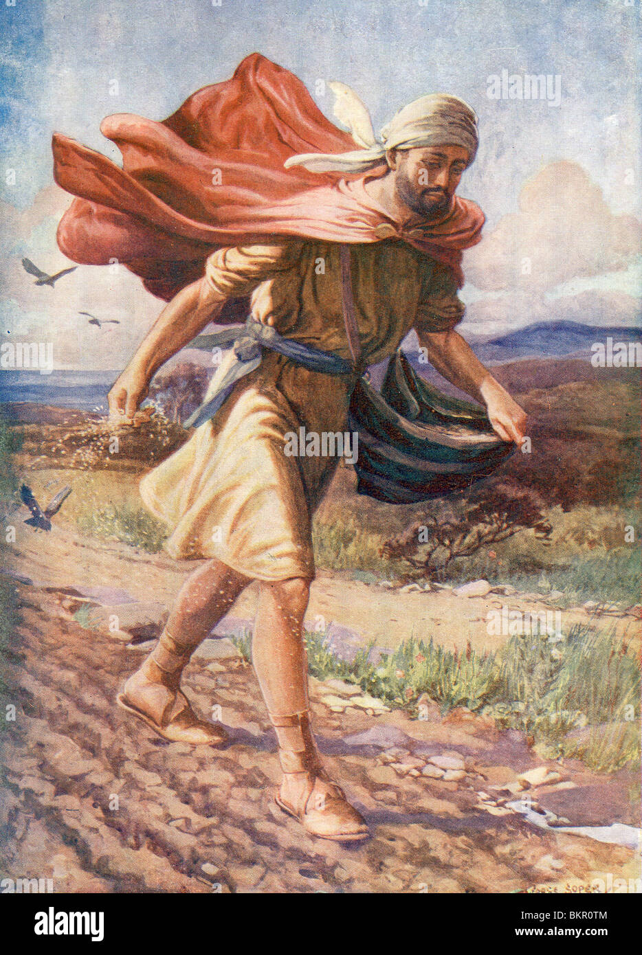Jesus Stilling the Storm - Stock Image