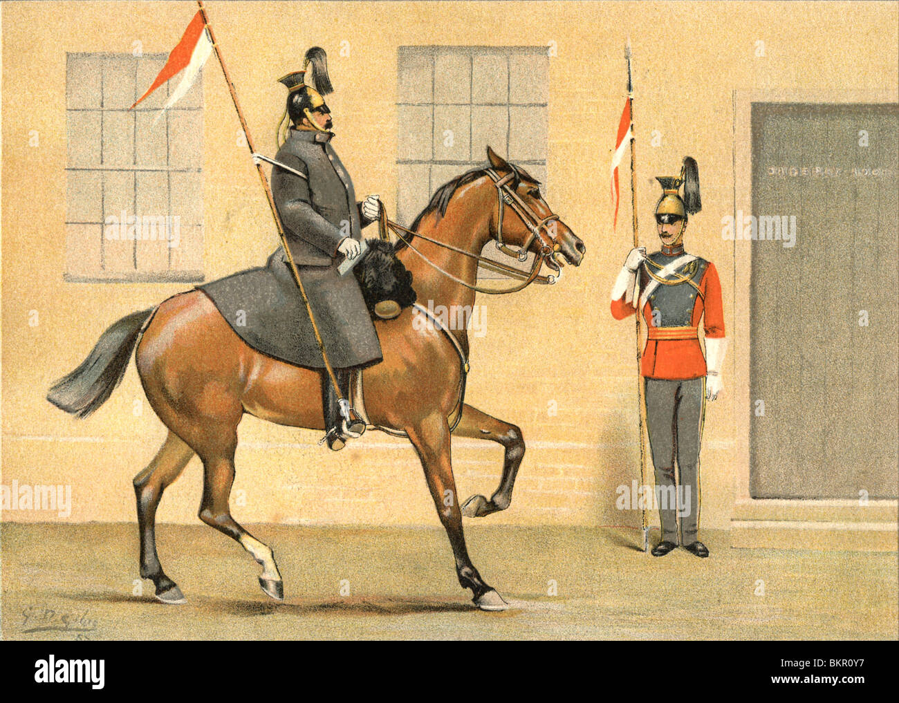 The 16th Queens Lancers - Stock Image