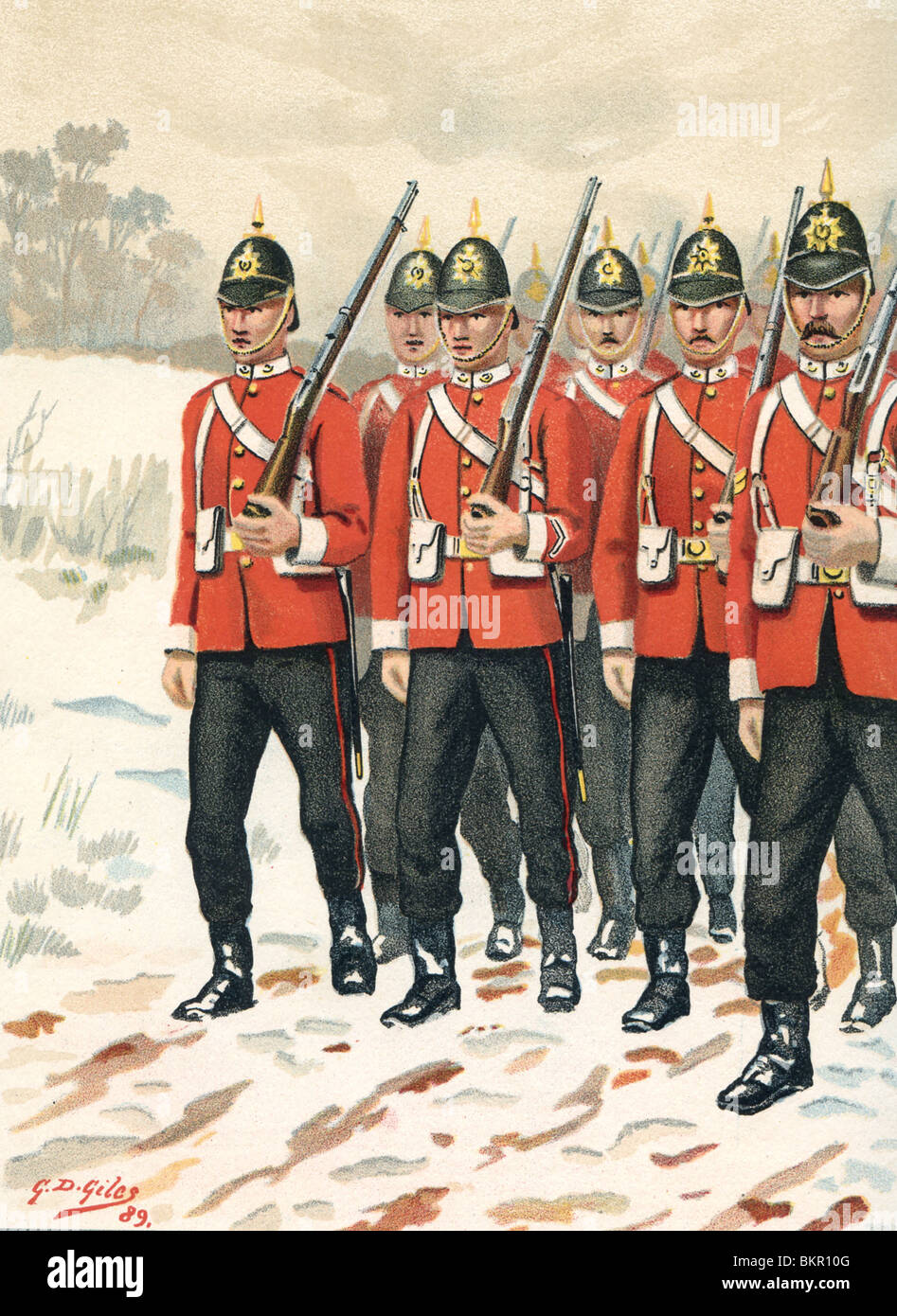 The 68th - Durham Light Infantry - Stock Image
