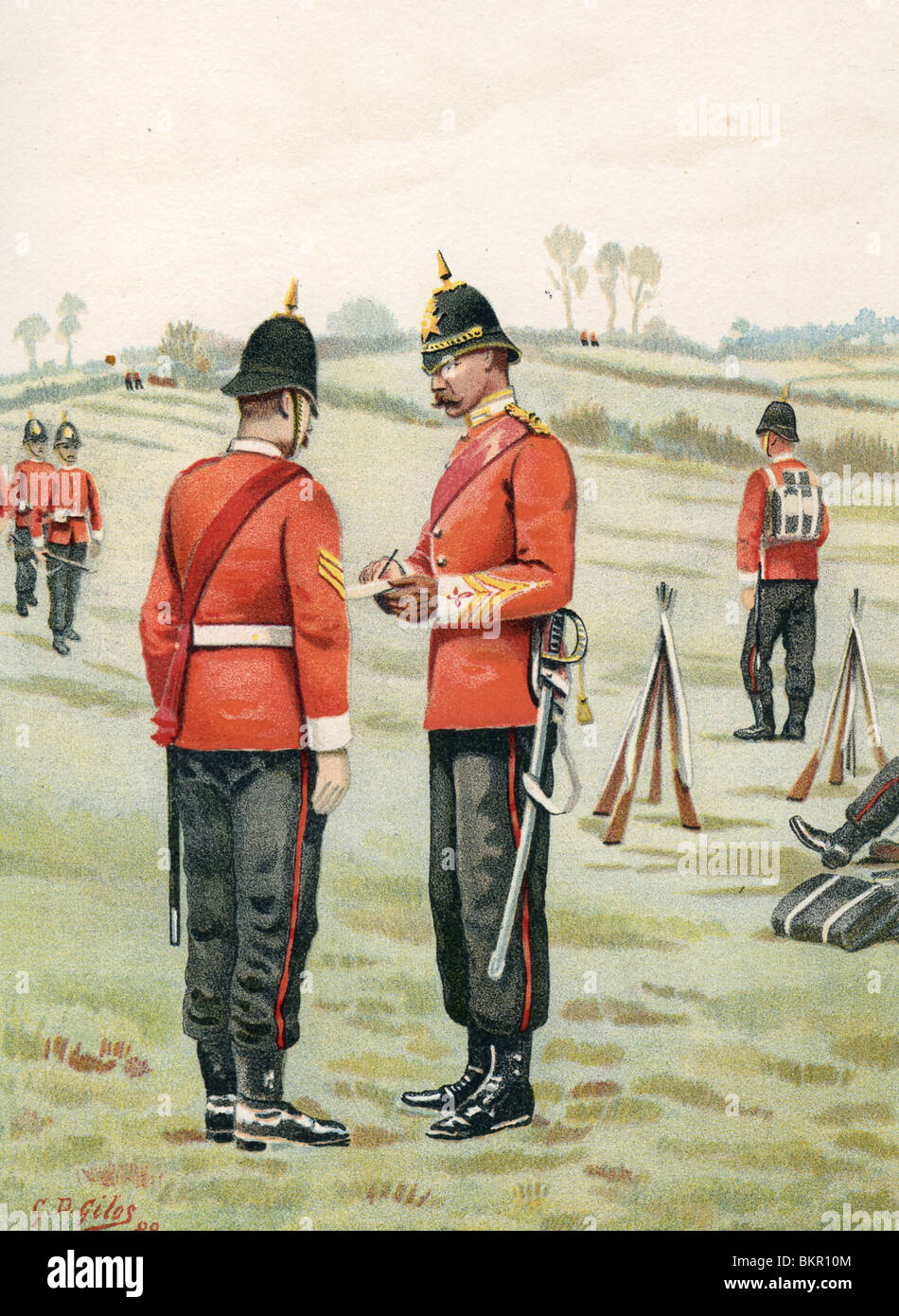 The 43rd - Oxfordshire Light Infantry - Stock Image