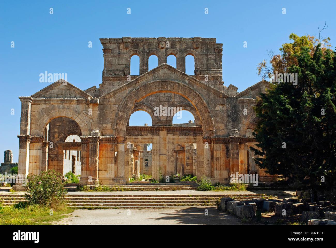 Syria, Aleppo. The monastery of St Simeon. - Stock Image