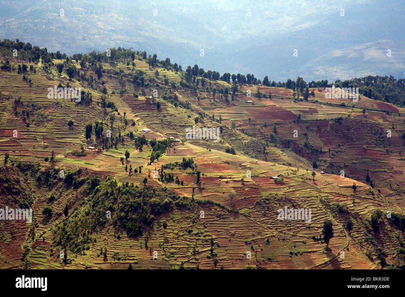 Ethiopia, Dire Dawa. The mountain ranges around Dire Dawa. - Stock Image
