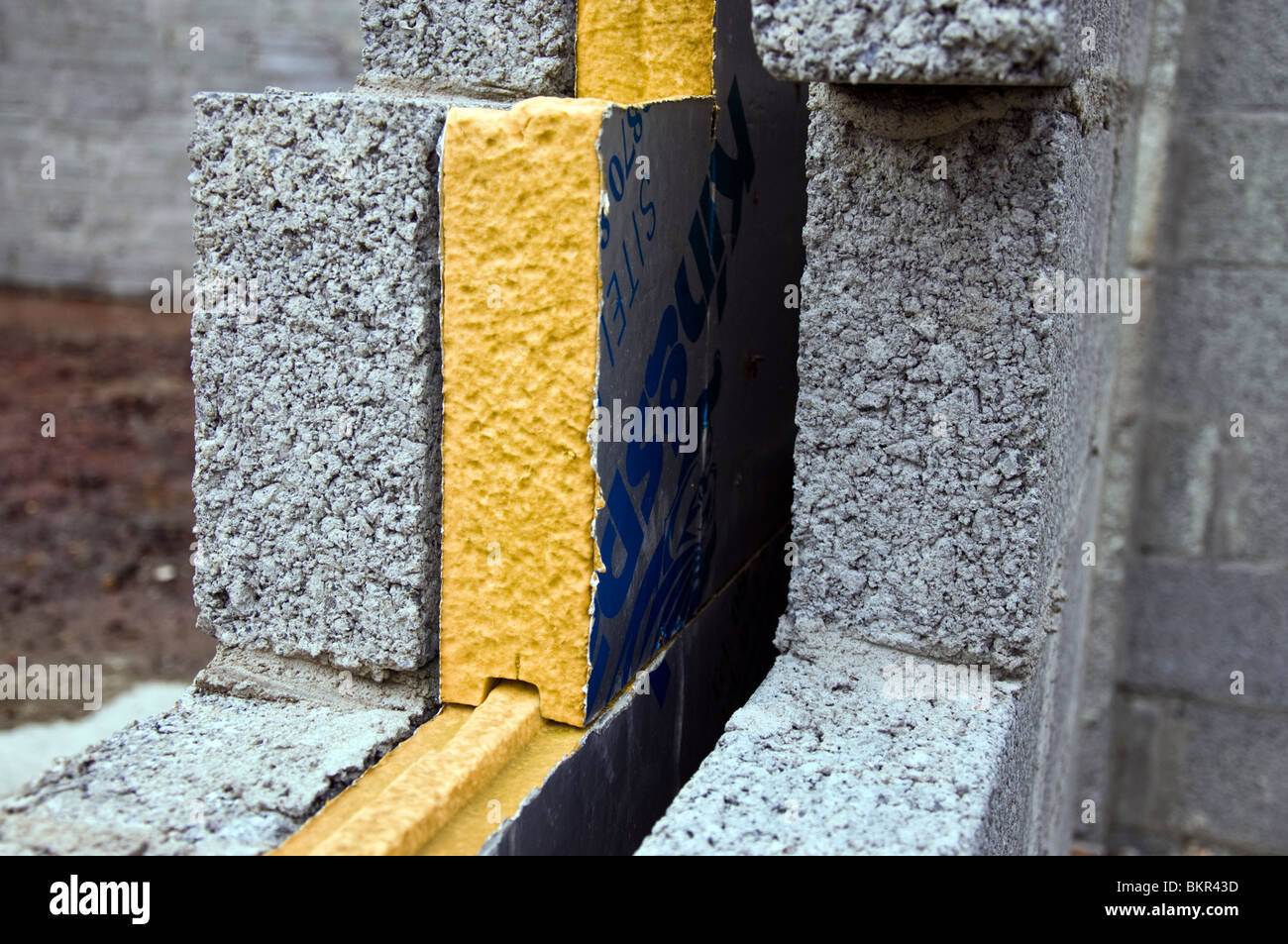 Cavity wall insulation stock photos cavity wall for Blown mineral wool cavity insulation