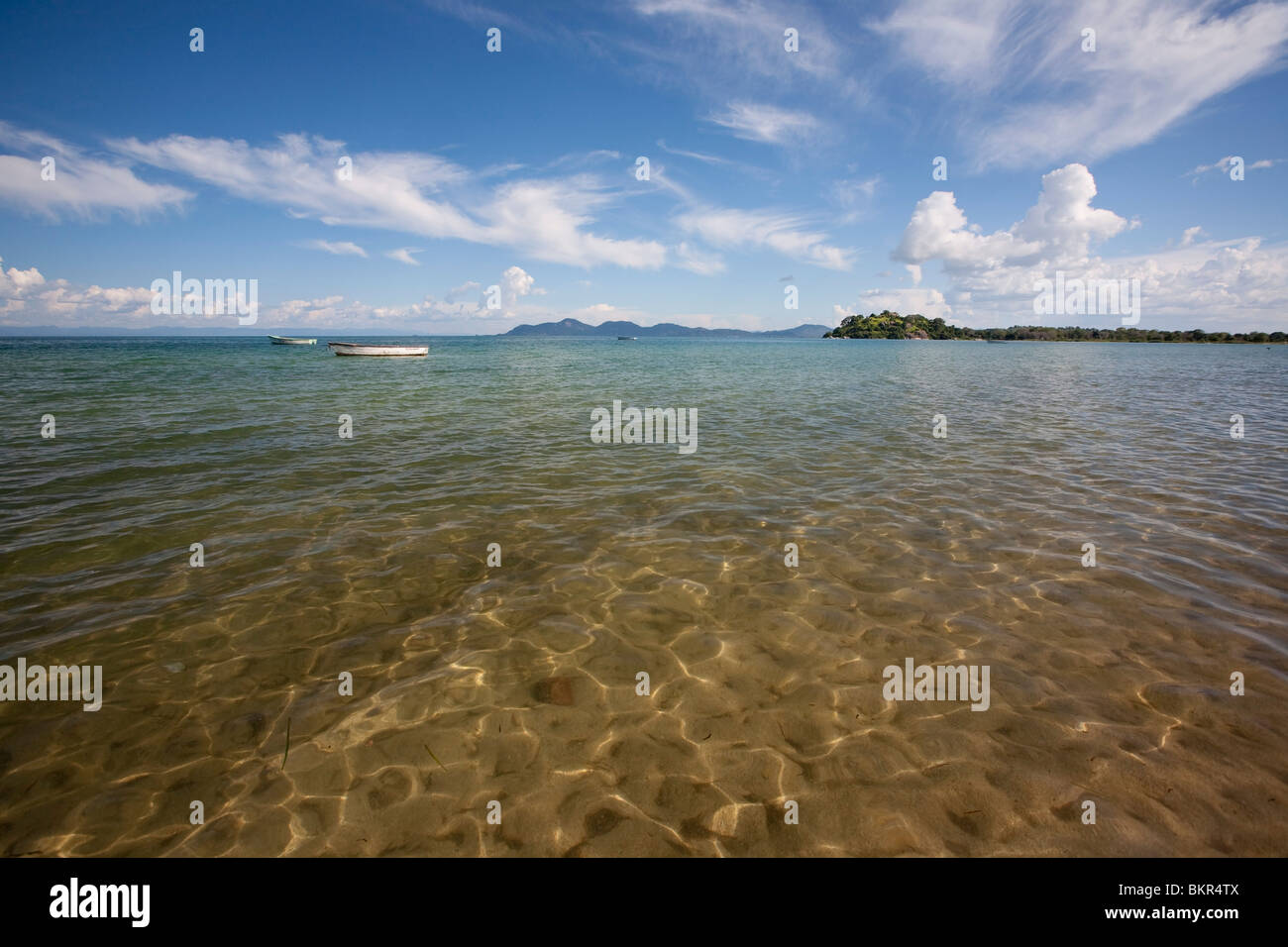 Malawi, Monkey Bay. Crystal clear waters of Lake Malawi. - Stock Image