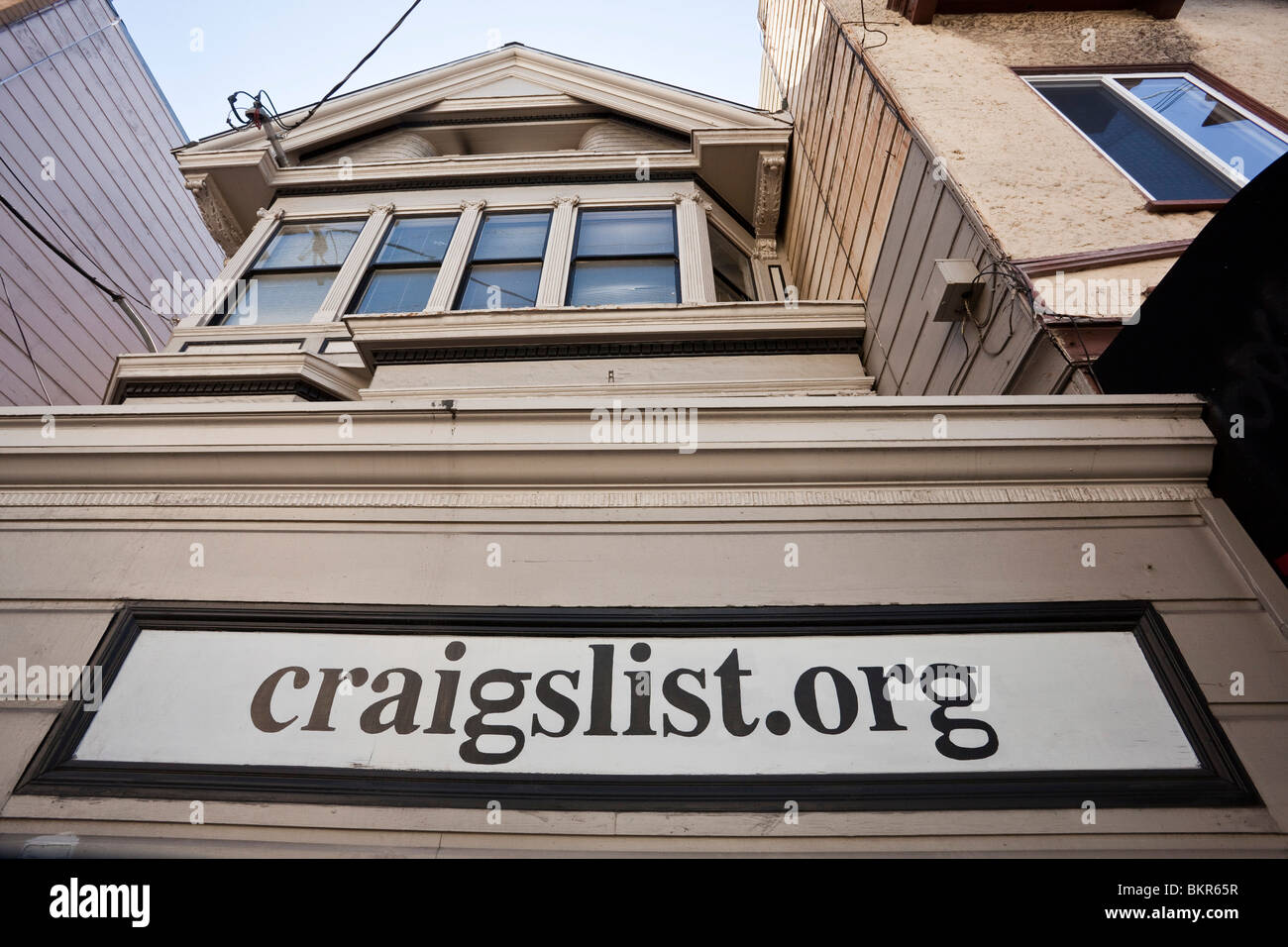 craigslist headquarters in victorian house in san francisco, usa