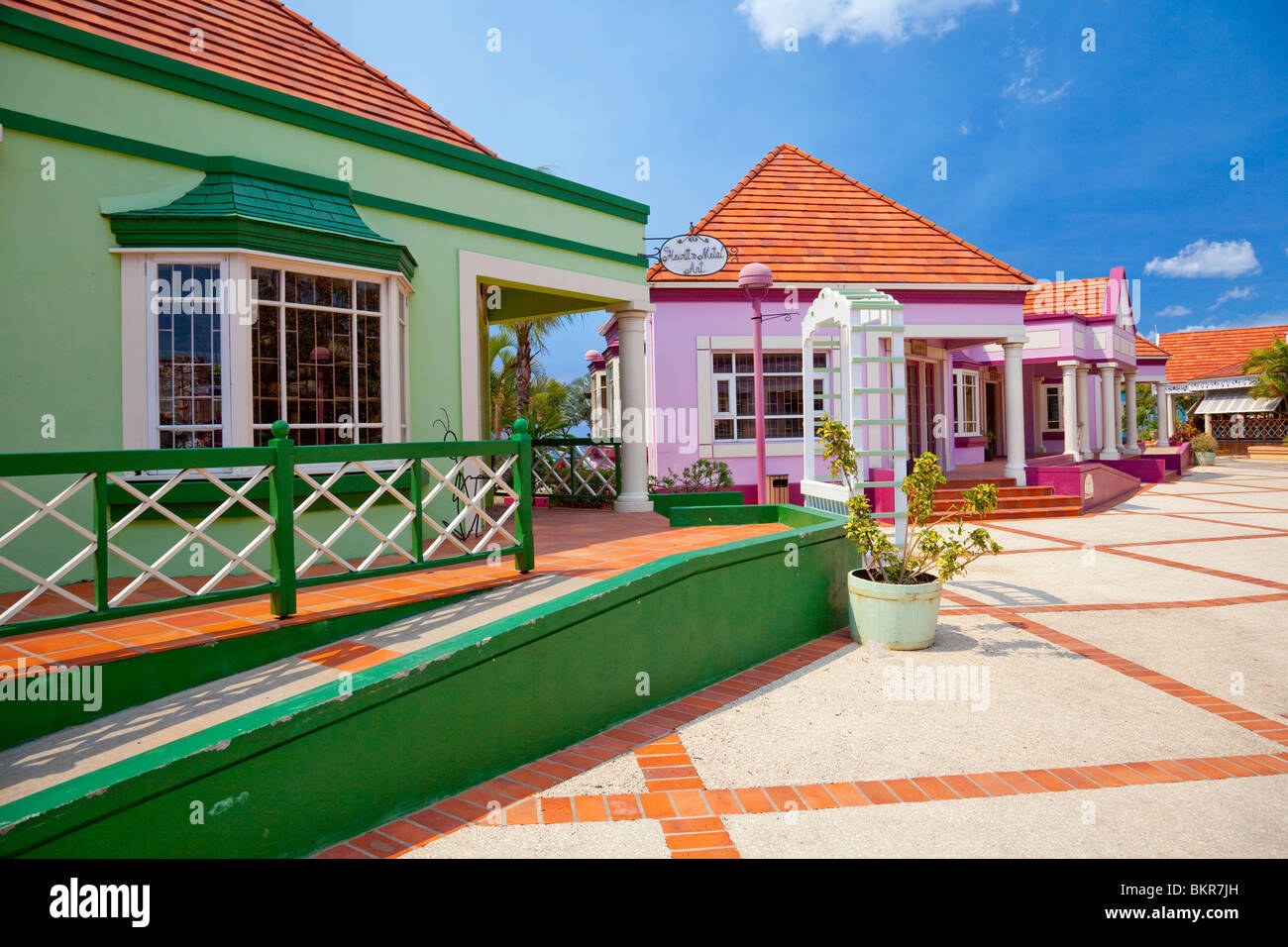 The Pelican Craft Center shopping complex near Bridgetown, Barbados, West Indies. - Stock Image