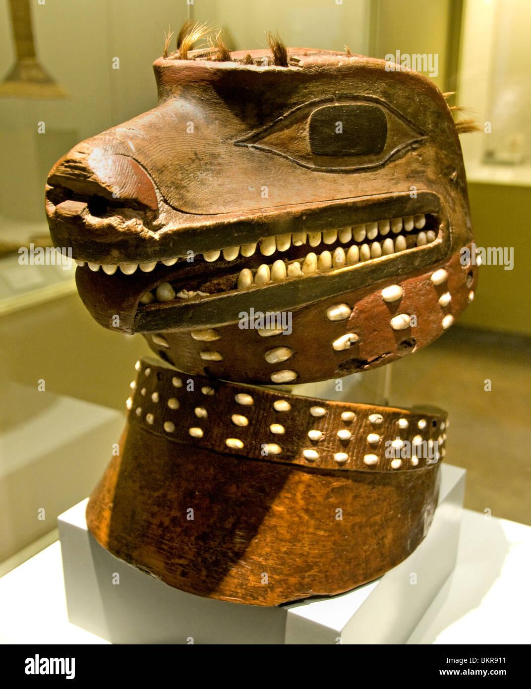 Mask Tlingit Indians 18 Cent Indian North America - Stock Image
