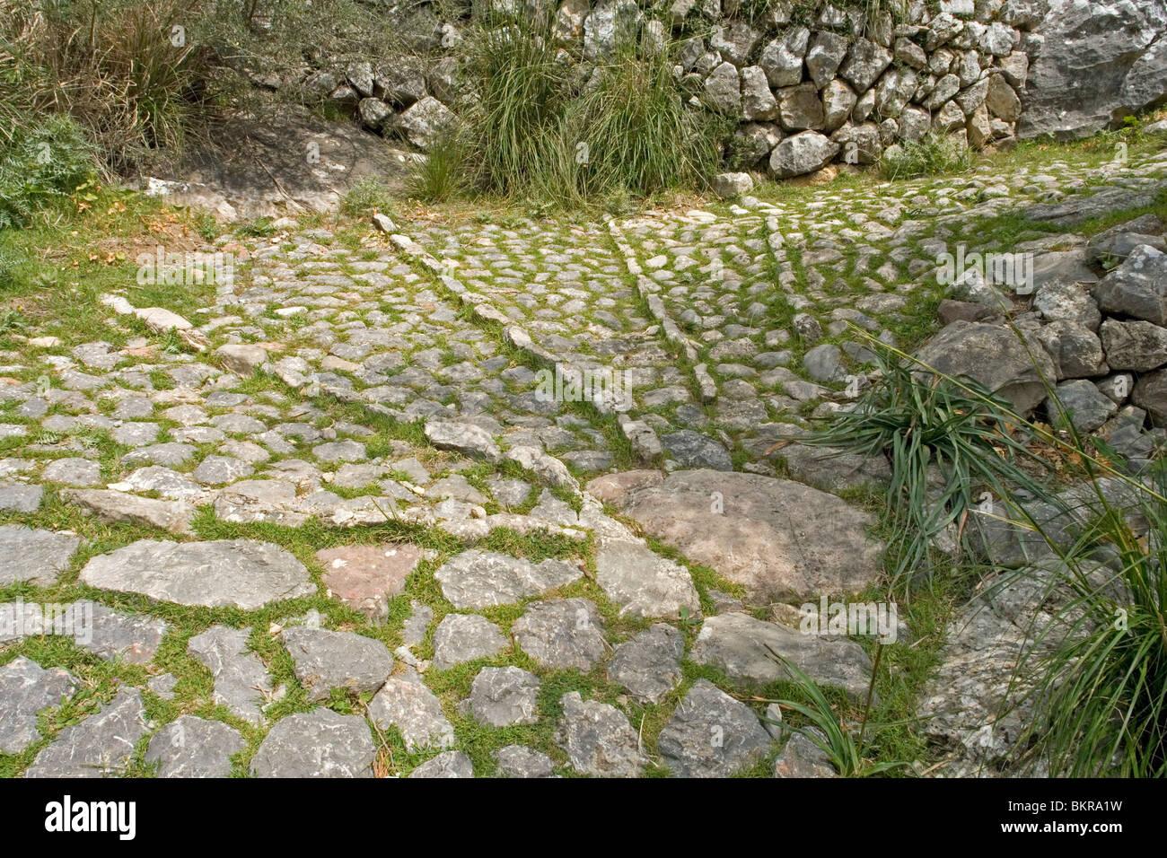 A part of the medieval pilgrimage route to the Lluc monastery (Majorca - Spain). Partie du chemin de pèlerinage - Stock Image
