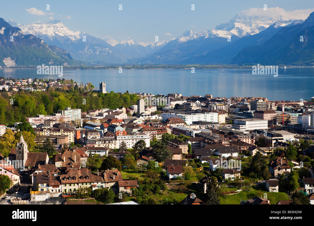 The City of Vevey, Switzerland Stock Photo