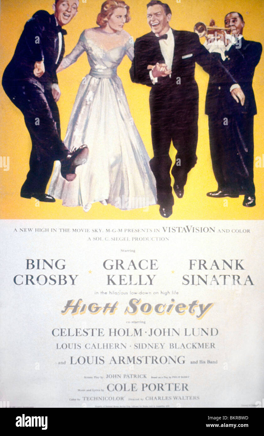 HIGH SOCIETY -1956 POSTER - Stock Image