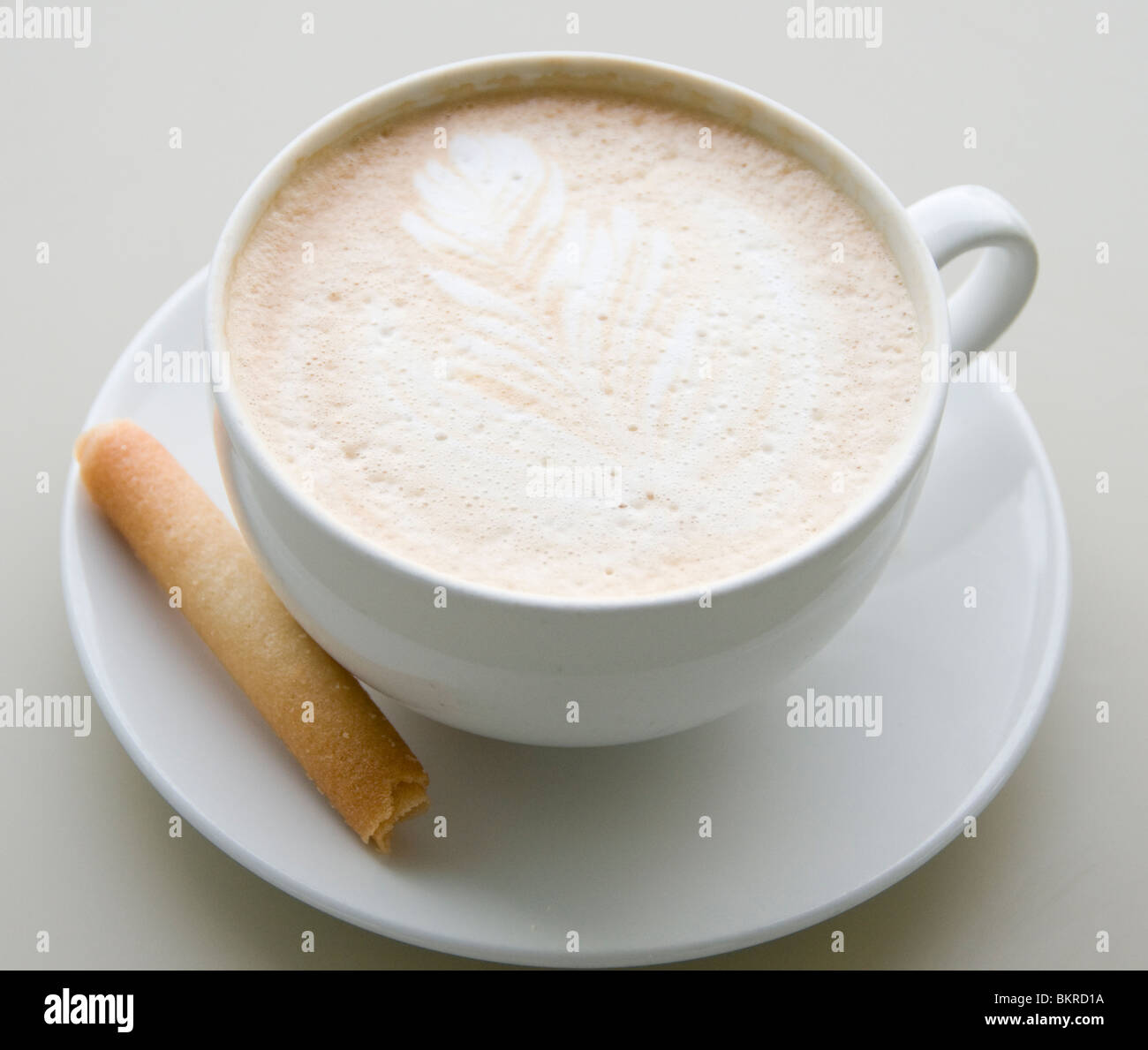 Coffee and biscuit - Stock Image