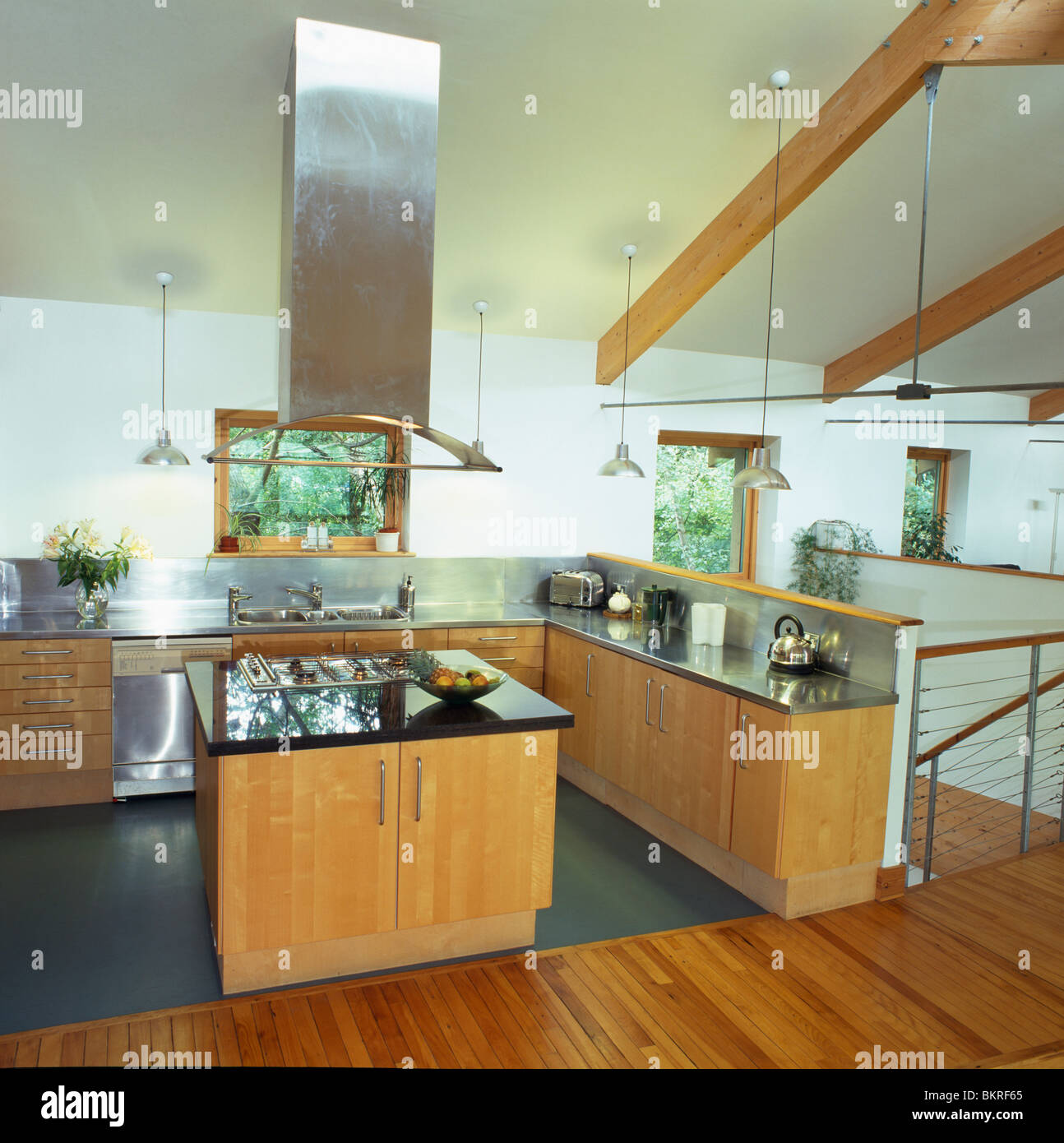 Country Interiors Modern Conversion Stock Photos & Country
