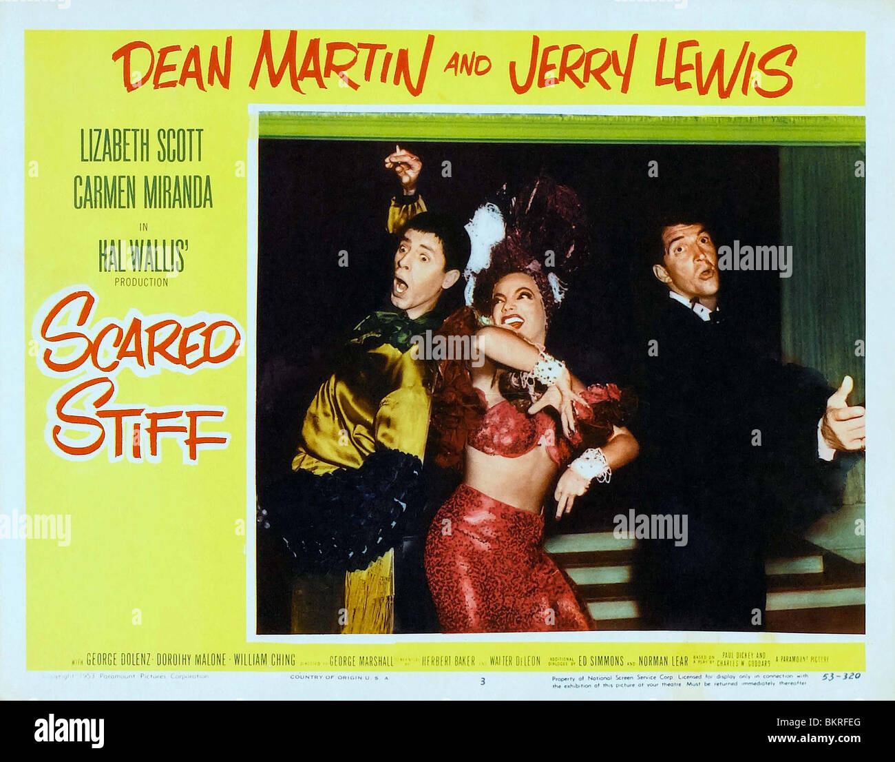 SCARED STIFF (1953) POSTER GEORGE MARSHALL (DIR) 001 - Stock Image