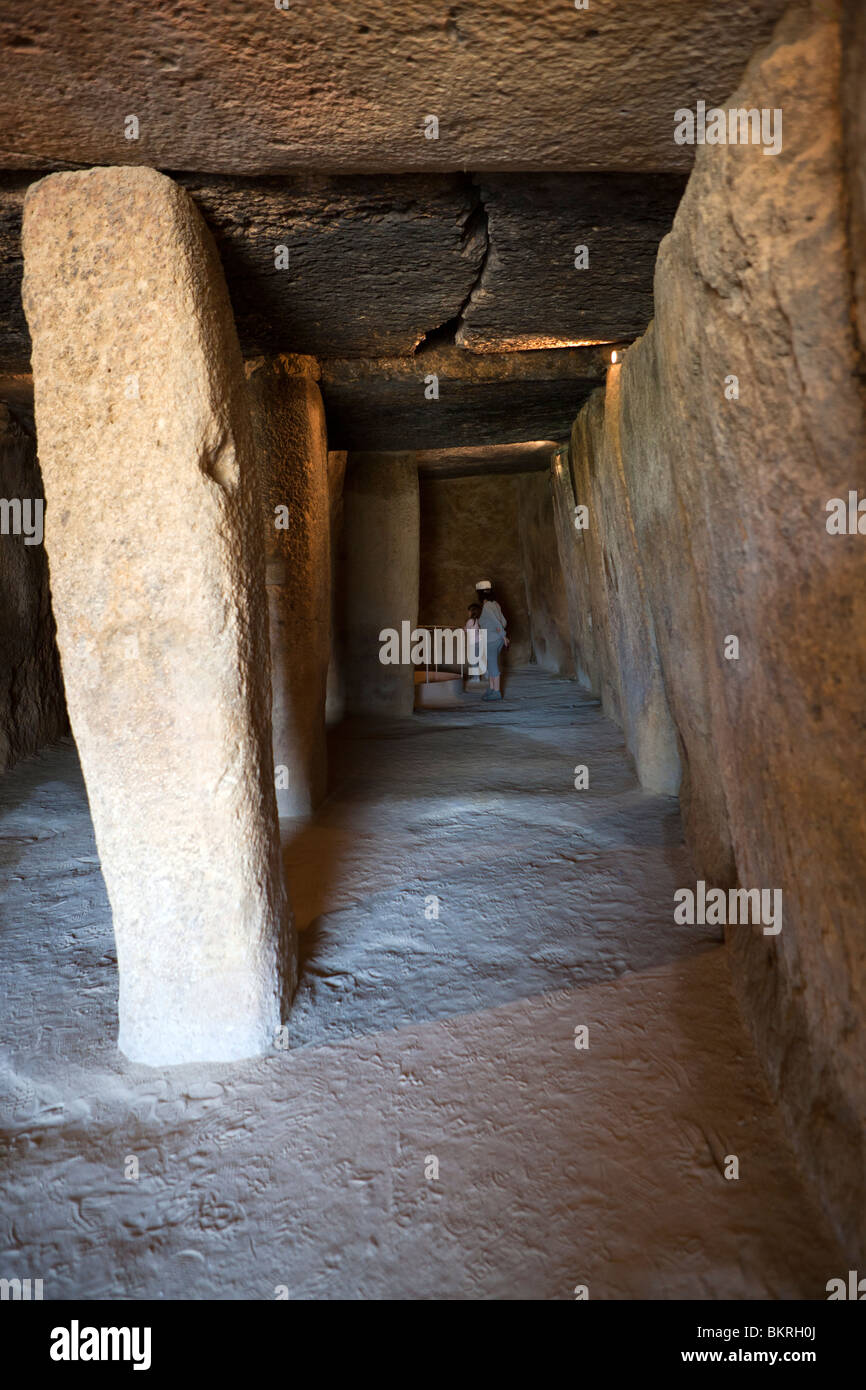 Megalithic Dolmens of Menga in Antequera. Málaga province. Andalusia. Spain. Europe - Stock Image