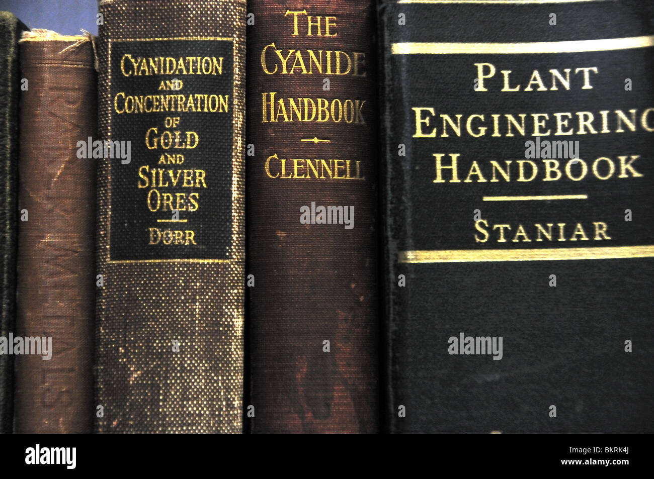 Old Mining Engineering Books - Stock Image