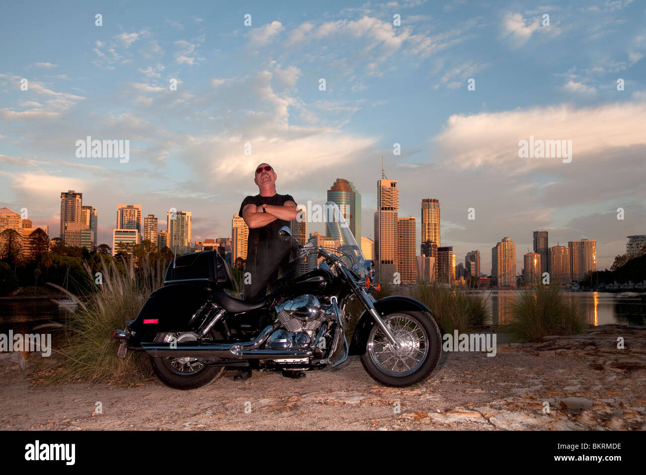Bike rider with city background stock photo 29409786 alamy bike rider with city background voltagebd Image collections